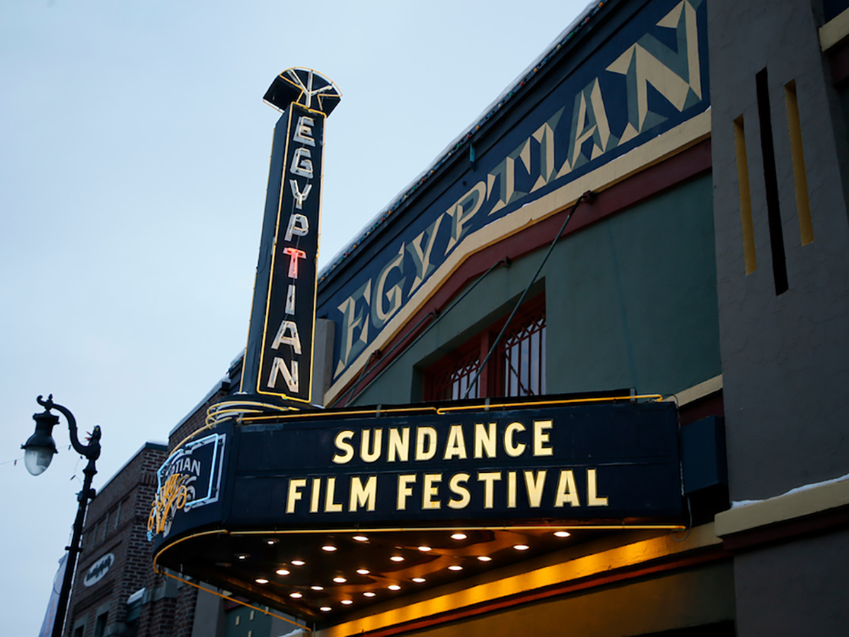 Mandatory Credit: Photo by Danny Moloshok/Invision/AP/Shutterstock (9331014g) The marquee of The Egyptian Theatre on Main Street during the Sundance Film Festival, in Park City, Utah 2018 Sundance Film Festival - Egyptian Theatre, Park City, USA - 22 Jan 2018
